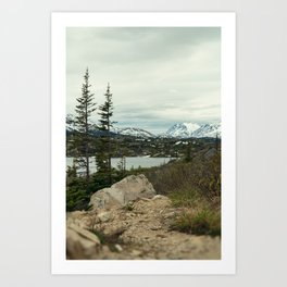 Yukon Mountains Art Print