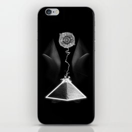 Pyramid Against Moon iPhone Skin
