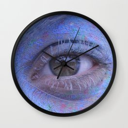 Powder Paint Portrait Wall Clock