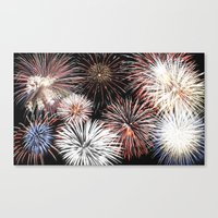 fireworks Canvas Prints featuring Fireworks by Urlaub Photography