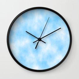 Pale Blue Clouded Art Wall Clock