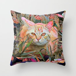 Alice's Cat Throw Pillow