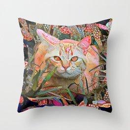 Alice's Cat Throw Pillow
