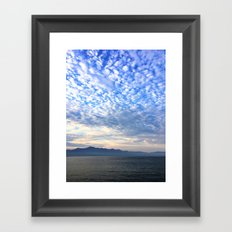 Clouds Dispensing Framed Art Print
