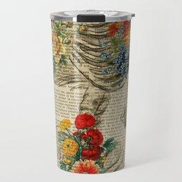 floral Pelvis anatomy Travel Mug