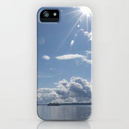 Sailing Sun Burst iPhone Case