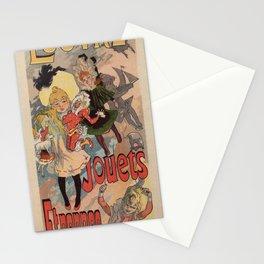 Vintage belle epoque toy store Paris vertical banner Stationery Cards