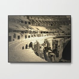 Inside View of the Colosseum in Rome, Italy  Metal Print