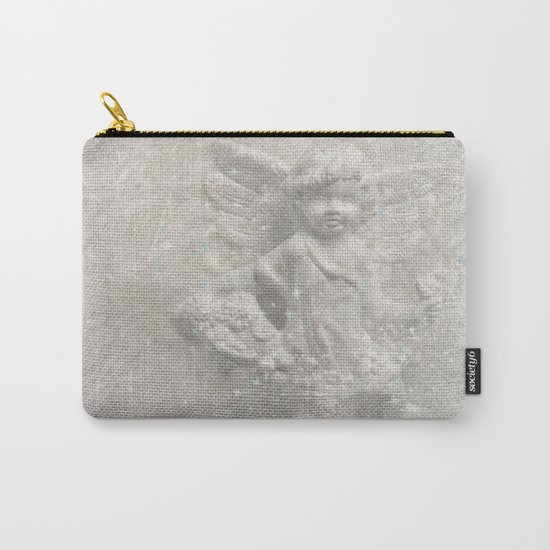White christmas angel Carry-All Pouch