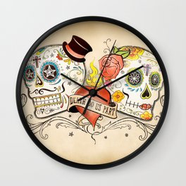 Death Do Us Part Wall Clock