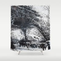 paris map Shower Curtains featuring Paris Map by Nicolas Jolly