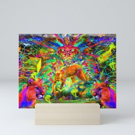 The Laser Focus of Couger Conciousness Mini Art Print