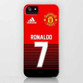 Ronaldo - Manchester UNited HOme 2018/19 iPhone Case