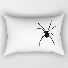 Black and White Spider Rectangular Pillow