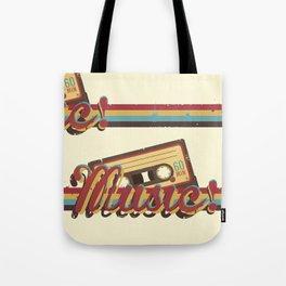 Music! (Retro Style) Tote Bag
