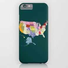 United States in Flowers iPhone 6s Slim Case