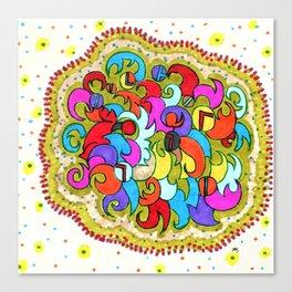 Violetta Print Pattern Design Canvas Print