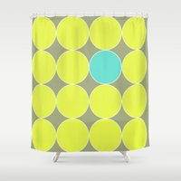 dot Shower Curtains featuring dot. by Bethany Mallick