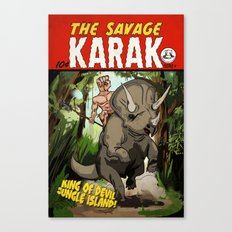 The Savage KARAK, King of Devil Jungle Island Canvas Print