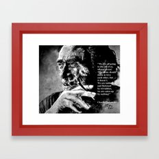 Charles Bukowski - black - quote Framed Art Print