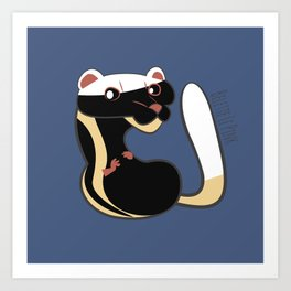 African Wildlife Poecilogale (African Weasel) Art Print