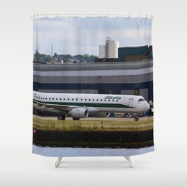 Alitalia  Embraer ERJ-190 London City Airport Shower Curtain