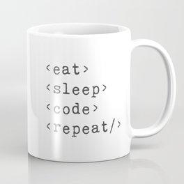 Eat, Sleep, Code, Repeat Coffee Mug
