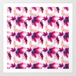 Flowerstamp Art Print