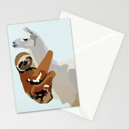 Sloth Llama Stationery Cards