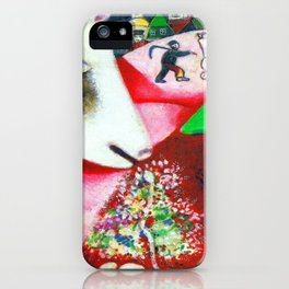 Marc Chagall Me and the Village iPhone Case