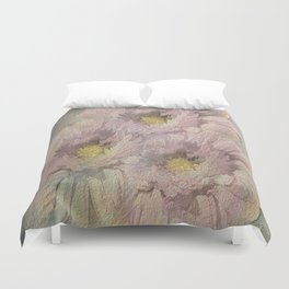 Soft Painted Daisies Abstract Duvet Cover