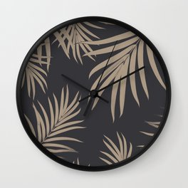 Palm Leaves Pattern Sepia Vibes #2 #tropical #decor #art #society6 Wall Clock