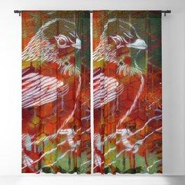 Sparrow Graffiti Blackout Curtain