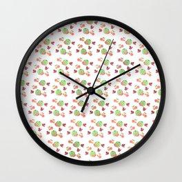 Three Fruit Combo Pattern Wall Clock