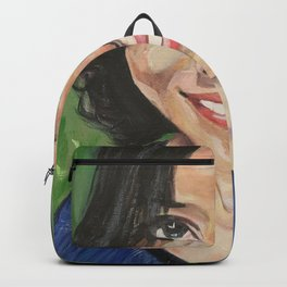 That Smile, a beautiful acrylic portrait Backpack