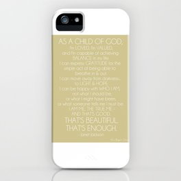 Janet Jackson Quote iPhone Case