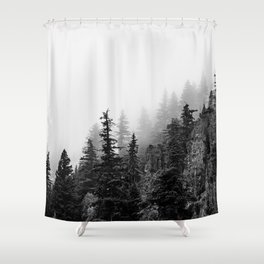 Foggy Trees Shower Curtain