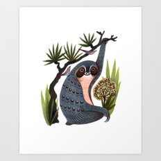 Sloth Friends Art Print