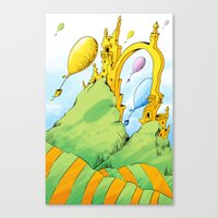 dr seuss Canvas Prints featuring Dr Seuss by LynxArtCollection