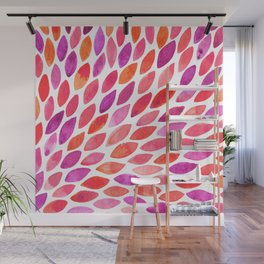 Watercolor brush strokes burst - pink and purple Wall Mural