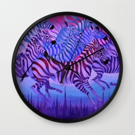 Flying above the sky. Wall Clock