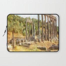 Fallen Ruins of Euromos Watercolor Laptop Sleeve