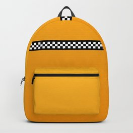 NY Taxi Cab Yellow with Black and White Check Band Backpack