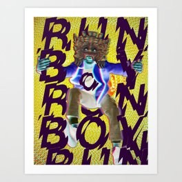 Run Boy Run Art Print