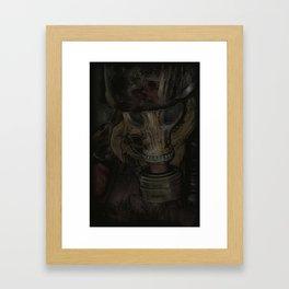 Man of darkness Framed Art Print