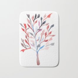 Watercolour Tree 6 Bath Mat