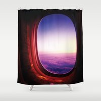 aviation Shower Curtains featuring aperture by Gray