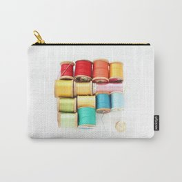 Colorful Needle and Thread Carry-All Pouch