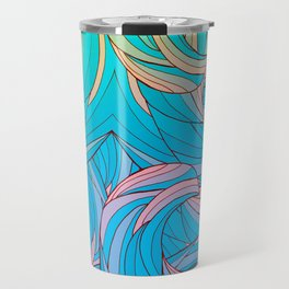 Sun Light Waves Travel Mug