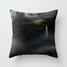 Castle in the Clouds Throw Pillow